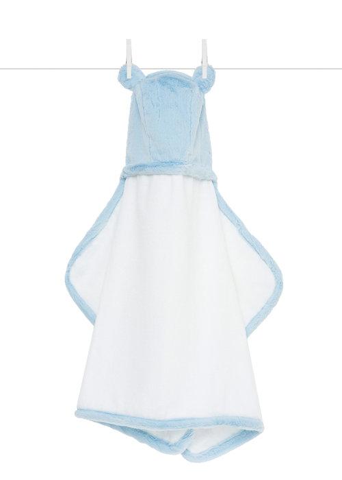 Little Giraffe Blue Luxe Hooded Towel