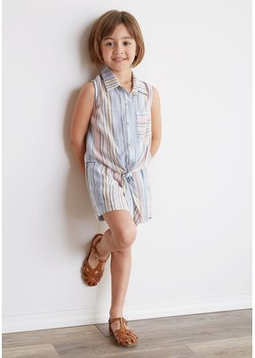 Bella Dahl Multi Stripe Smocked Short