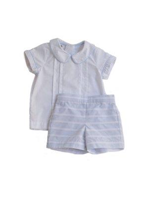 La Petite Fleur Clothier Sweet Pea Stripe Gunter Short Set