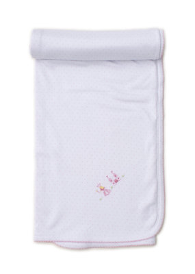 Kissy Kissy Pink Dot Fairy Princess Blanket With Hand Embroidery