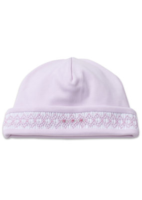Kissy Kissy Pink Hat Hand Smocked NB
