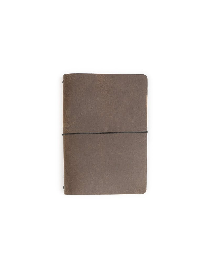 Rustico Expedition Point Five Leather Notebook (Dark Brown)
