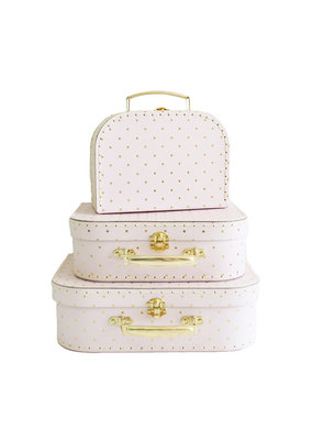 Alimrose Alimrose Kids Carry Case Set Pink Gold