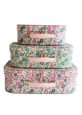 Alimrose Alimrose Kids Carry Case Set Petit Floral Teal Pink