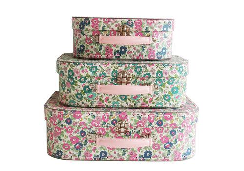 Alimrose Alimrose Kids Carry Case Set Petit Floral Teal Pink