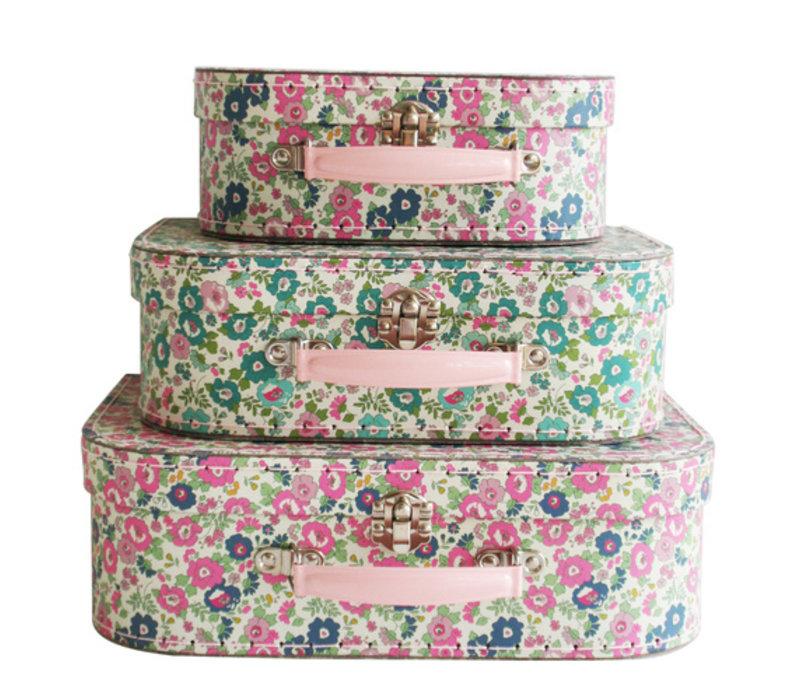 Alimrose Kids Carry Case Set Petit Floral Teal Pink