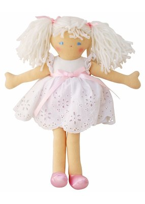 Alimrose Alimrose Bella Doll White Broderie Dress 25cm