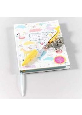 Fantasy Lockable Notebook with Pineapple Scented Pen