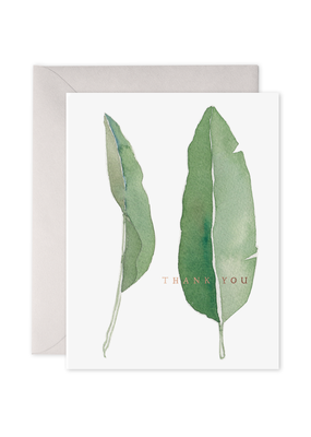 E. Frances Paper Thank You Leaves Card
