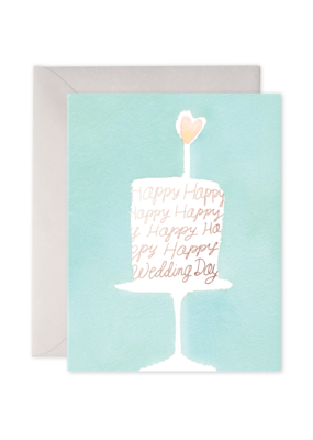 E. Frances Paper Wedding Cake Card
