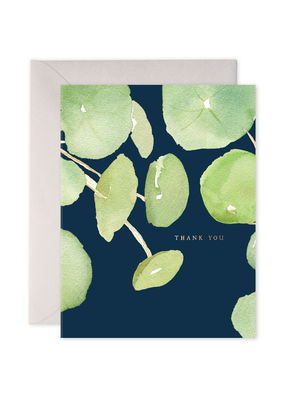 E. Frances Paper Pancake Plant Thank You Card