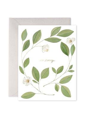 E. Frances Paper Magnolia Condolence Card