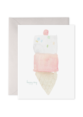 E. Frances Paper Ice Cream Birthday Card