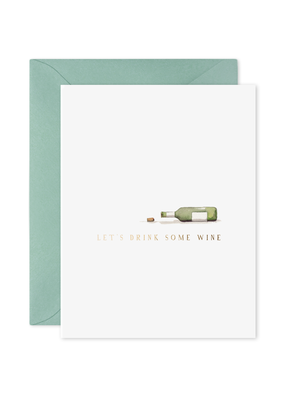 E. Frances Paper Drink Wine Card