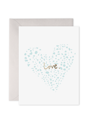 E. Frances Paper Blue Heart Card