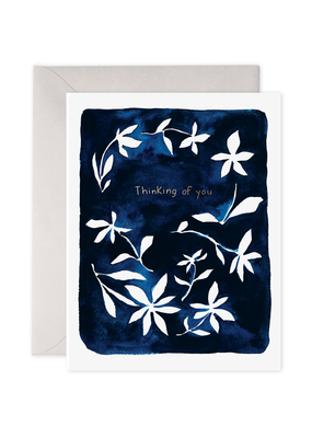 E. Frances Paper Indigo Flowers Card