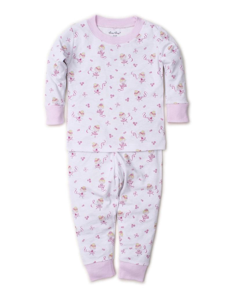 Kissy Kissy Kissy Kissy Twirly Toes Pink Pajama Set