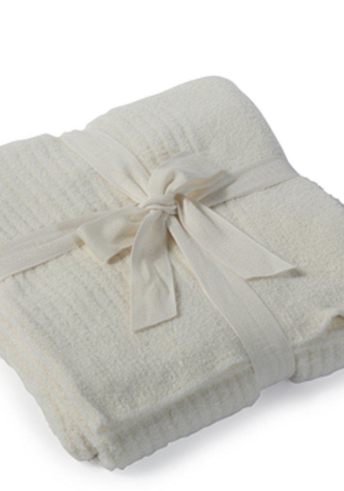 Barefoot Dreams Cozychic Lite Ribbed Throw Pearl