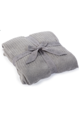 Barefoot Dreams Barefoot Dreams Cozychic Lite Ribbed Throw Pewter