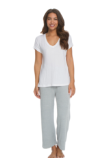 Barefoot Dreams Barefoot Dreams White Modal Boxy V-Neck Tee