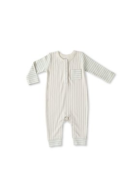Pehr Pehr Stripes Away Romper Pebble with Sea