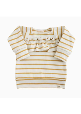 Lulu & Roo Lulu & Roo Sailor Stripe Ruffle Sweater