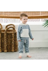 Lulu & Roo Lulu & Roo Fog and Shipley Stripe Hoodie & Pants Set