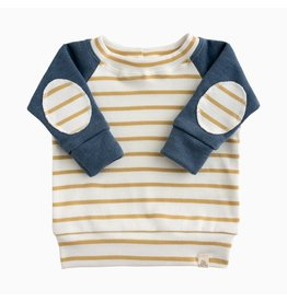 Lulu & Roo Lulu & Roo Navy and Sailor Stripe Patch Sweatshirt Set