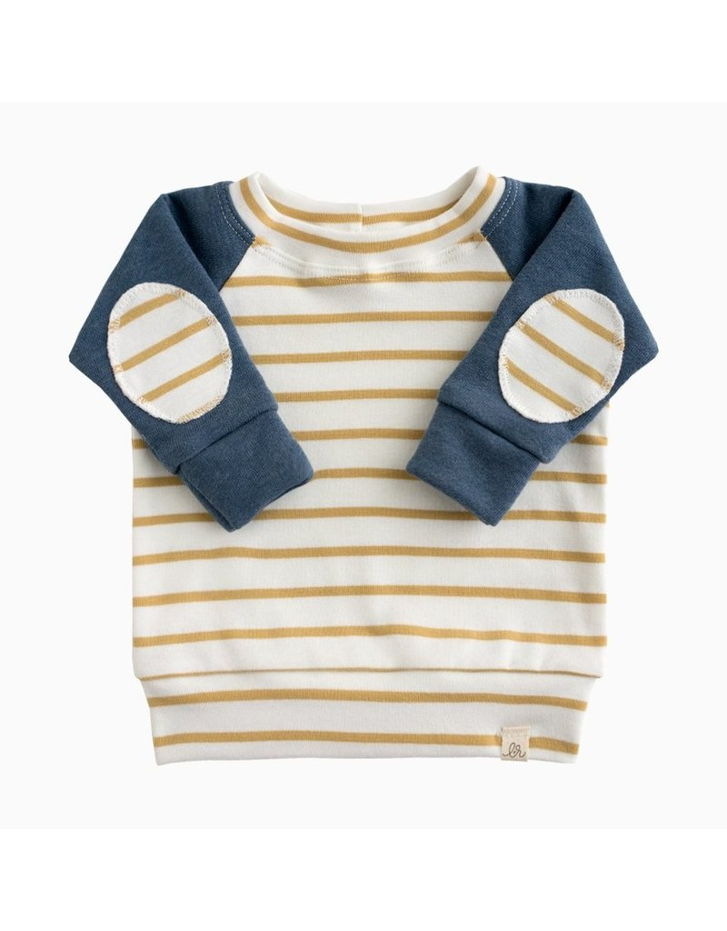 Lulu & Roo Lulu & Roo Navy and Sailor Stripe Patch Sweatshirt Set