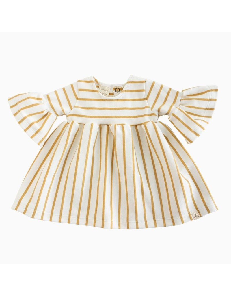 Lulu & Roo Lulu & Roo Sailor Stripe Bell Sleeve Dress