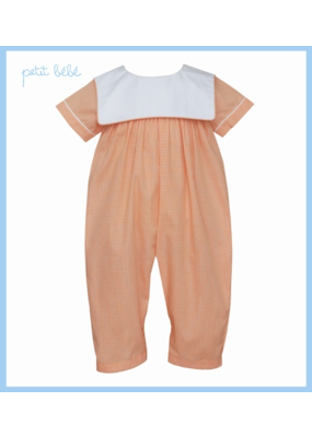 Petit Bebe Petit Bebe Orange Mini Check Bubble