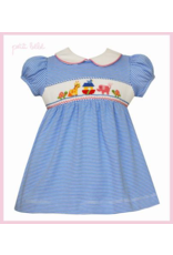 Petit Bebe Petit Bebe Noah's Ark Dress Royal Blue Stripe Knit