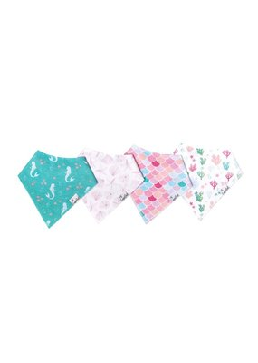 Copper Pearl Copper Pearl 4 Pack Bandana Bibs Coral