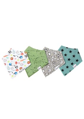 Copper Pearl Copper Pearl 4 Pack Bandana Bibs Varsity