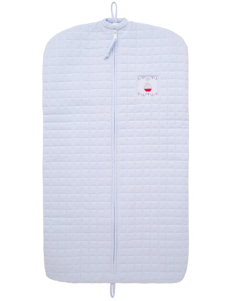 Little English Little English Quilted Luggage Garment Sailboat