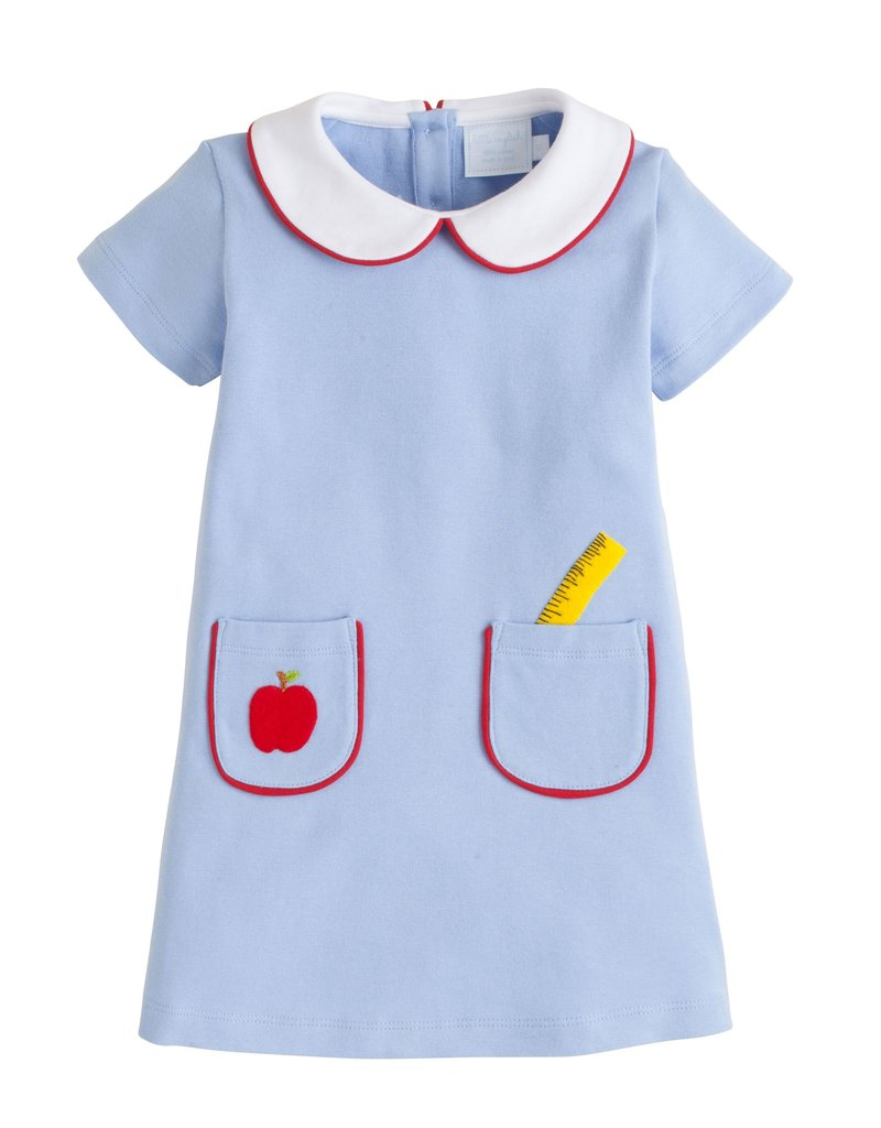 Little English Little English School Days Applique Libby Dress