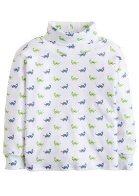 Little English Little English Dinosaur Printed Turtleneck