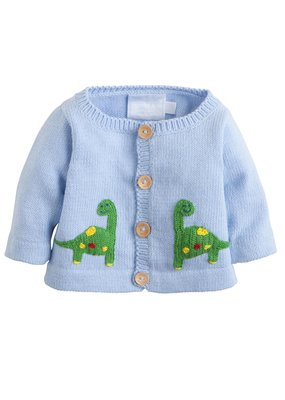 Little English Little English Dinosaur Crochet Sweater