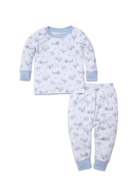 Kissy Kissy Kissy Kissy PJs Boys Games Light Blue Pajama Set Snug PRT