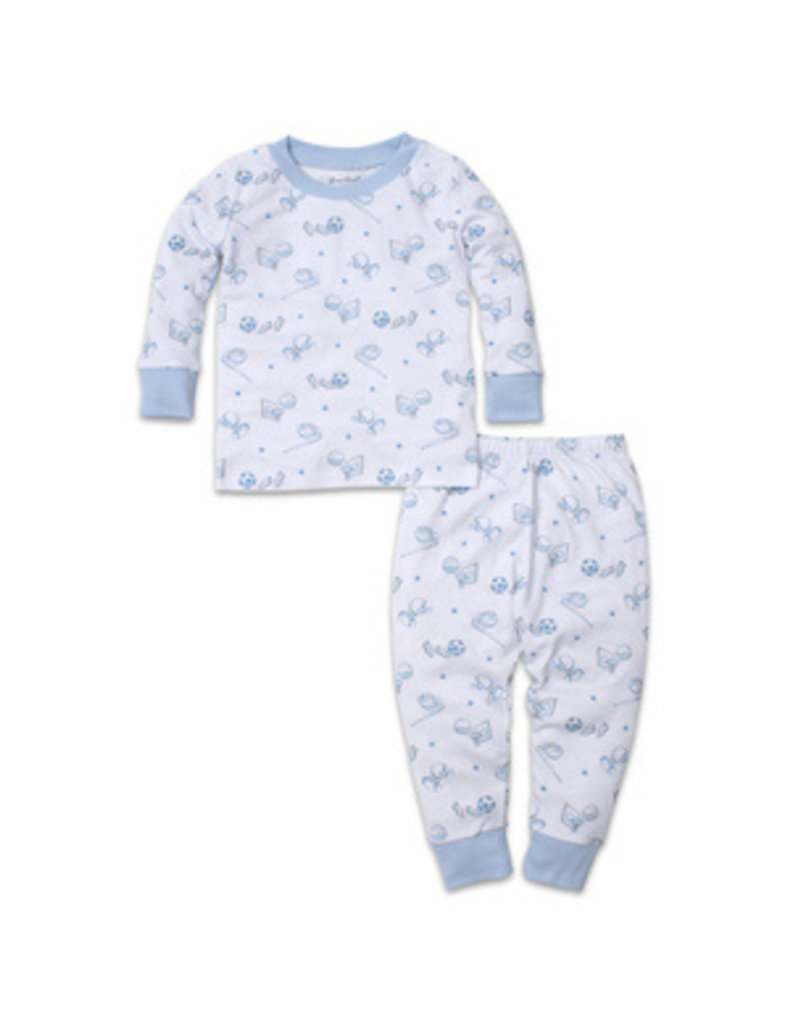 Kissy Kissy Kissy Kissy PJs Boys Games Light Blue Pajama Set Snug PRT