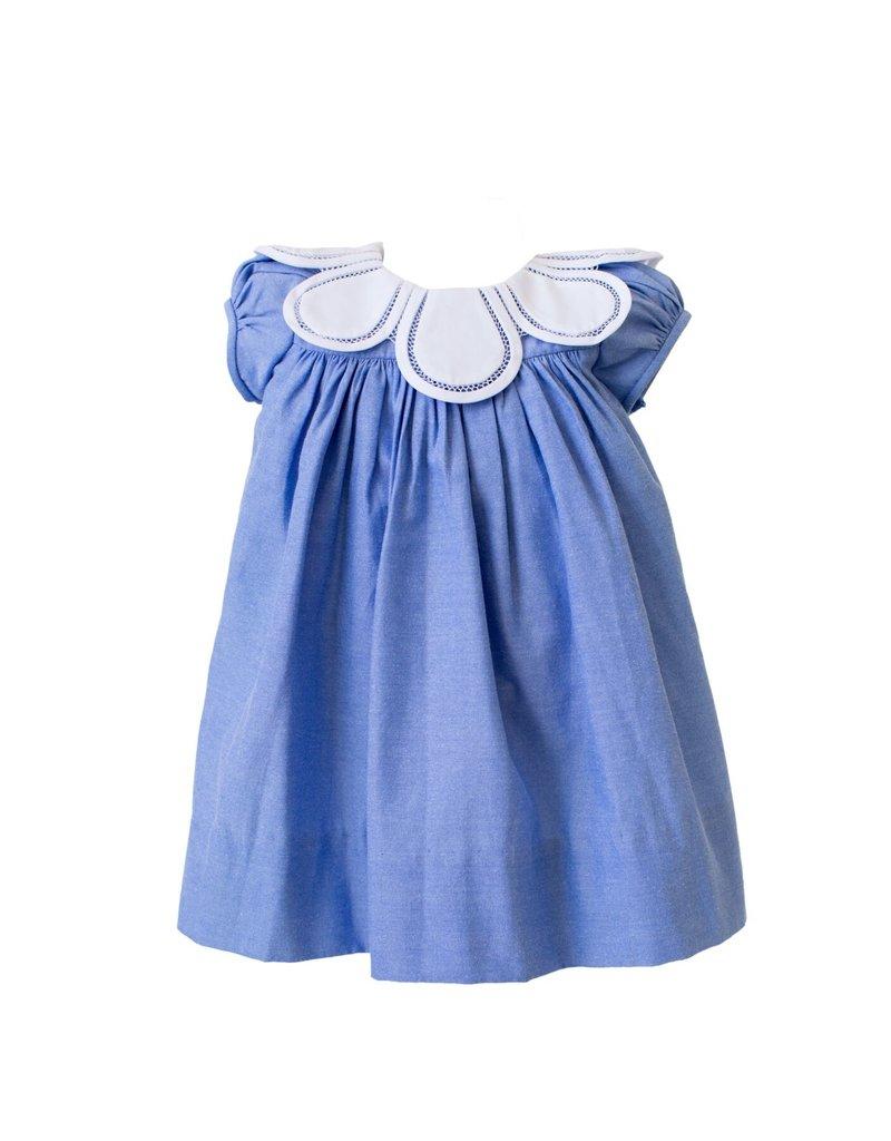 Proper Peony Proper Peony Chambray Blue Tulip Dress