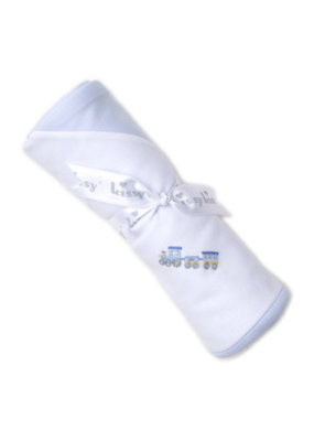 Kissy Kissy Kissy Kissy Premier Choo Choo Light Blue Blanket