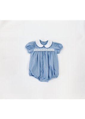 Lullaby Set Lullaby Set Light Blue Mini Gingham with Ribbon Bubble