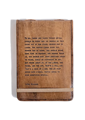 Sugarboo Leather Journal Jim Valvano