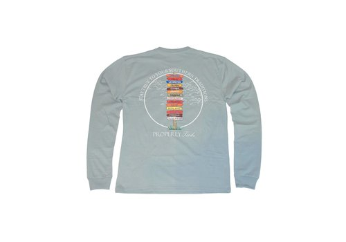 Properly Tied Properly Tied Lil Ducklings Stay True Long Sleeve Chrome Grey