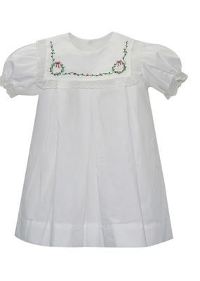 Lullaby Set Lullaby Set Dress White w/ Wreath Emobroidery & Lace