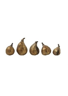 Creative Co-op Set of 5 Figs Gold Finish