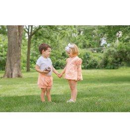 James & Lottie James & Lottie Orange Cece Bloomer Set