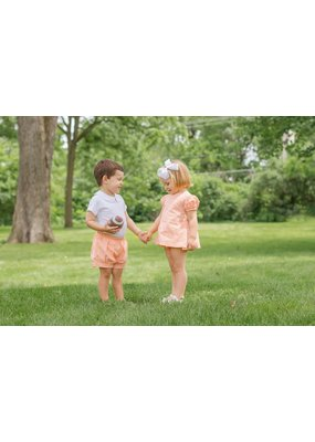 James & Lottie James & Lottie Orange Cece Bloomer Set