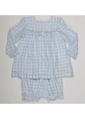 Oaks Apparel Company Oaks Apparel Danielle Blue Check Set